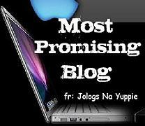 Most promising blog award