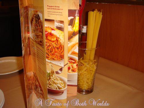 Open pasta menu on pizzahut