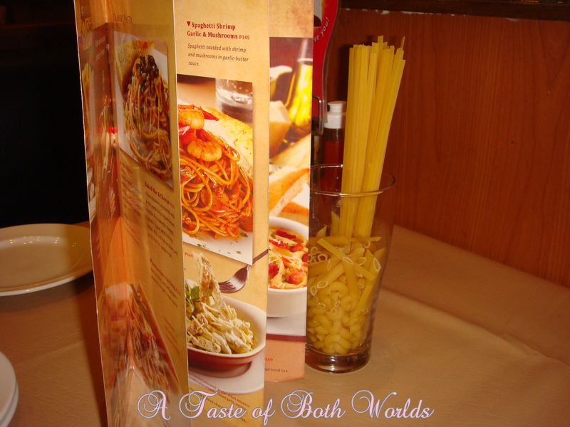 Open pasta menu on pizzahut
