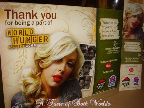 World hunger mementos